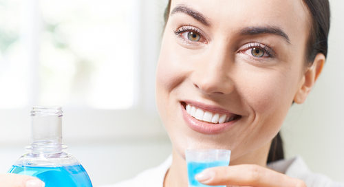 rinsing with mouthwash